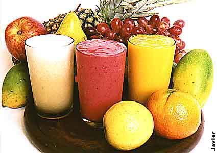 shake e frutas