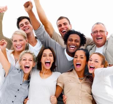silicio - pessoas felizes