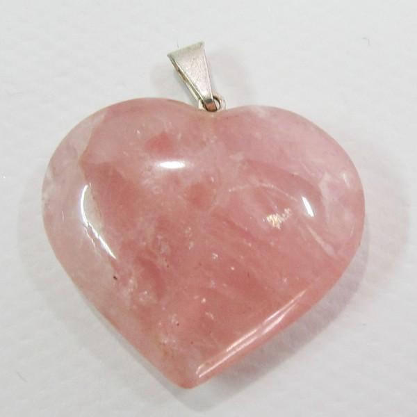 quartzo rosa pingente