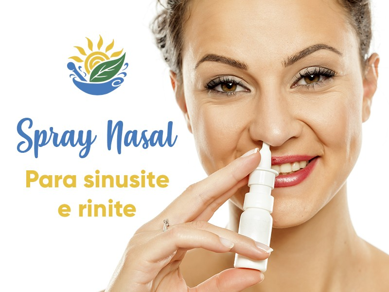 Spray nasal para rinite e sinusite